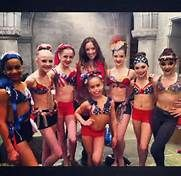 Dance Moms Group Free The People, This photo incudes Nia Fraizer, Paige Hyland, Chloe Lusiasak, Gianna, Brooke Hyland, Maddie Ziegler, kendall Vertes and in the front we have Asia Ray. Kenzie is in this dance due to injury i think