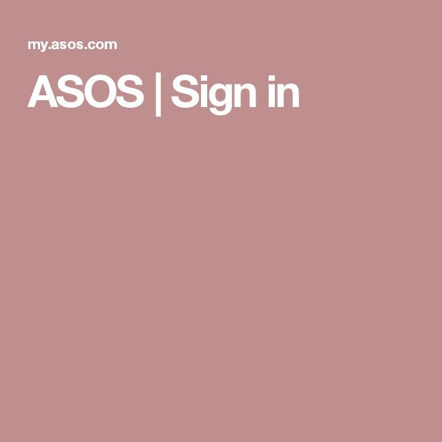 ASOS | Sign in