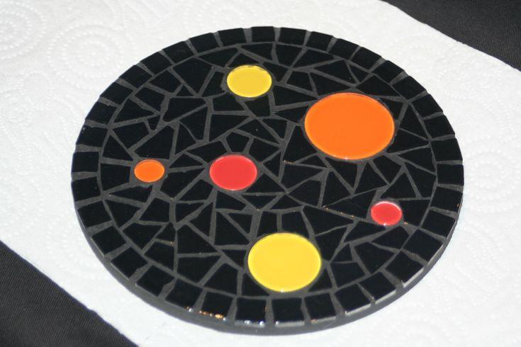dessous de plat mosaique - Photo de Boutique en ligne - Florence OLMI, Mosaïque d'art à Cransac (Aveyron) Créations et stages de mosaïque