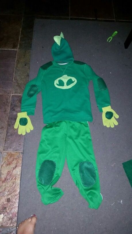Pj masks gekko costume diy