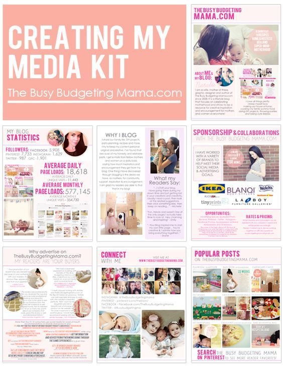 Creating a media kit: ideas for yours and what is included.