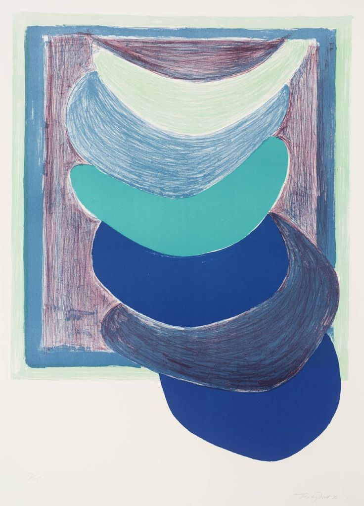Sir Terry Frost, 'Blue Suspended Form' 1970