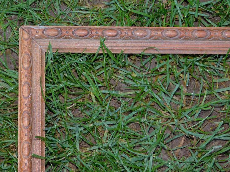 cadre ancien en bois sculpte de formes ovales 18cmx43cm cadr747 le charme des cadres anciens. Black Bedroom Furniture Sets. Home Design Ideas