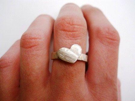 Rustic heart ring.