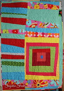 Organic Machine Pieced quilt by Sujata Shah.