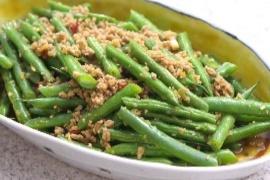 Harumi Kurihara's Stir-Fried Green Beans & Minced Pork