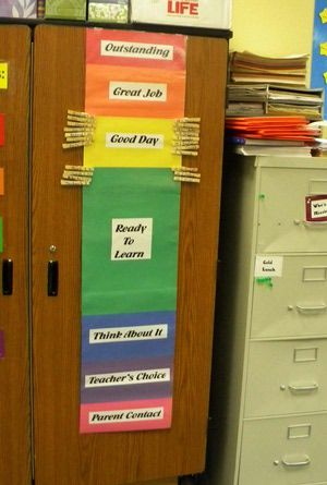 A Color Classroom Behavior Chart Using Clothespins: An Easy to Create Multi-Colored Chart that Creates Behavior Feedback