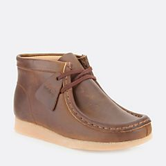 Boys Wallabee Boot Toddler Brown Oily - Toddler Shoes for Boys - Clarks® Shoes