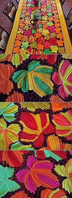 """Мастер-класс: скатерть """"Кленовые листья"""" - Ярмарка Мастеров - ручная работа, handmade"""