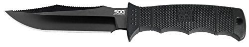 SOG SEAL Pup Elite Fixed Blade E37SNCP  Black TiNi 485 AUS8 Blade GRN Handle MOLLE Compatible Nylon Sheath ** Visit the image link more details. Note:It is affiliate link to Amazon.