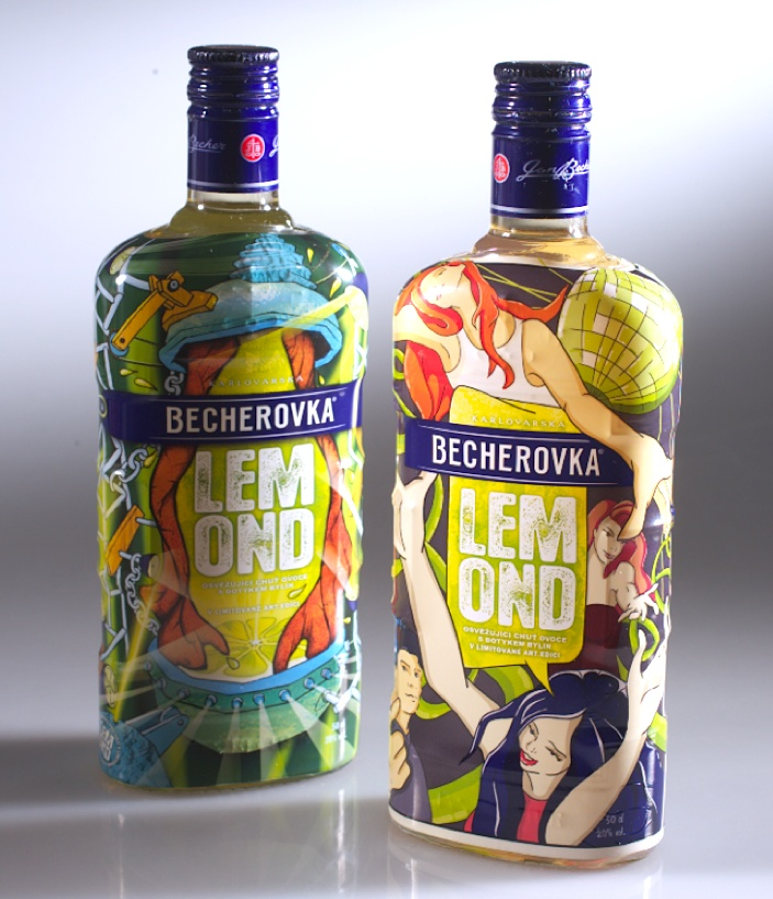 Becherovka Lemond limited 'art' edition. Cool. PD