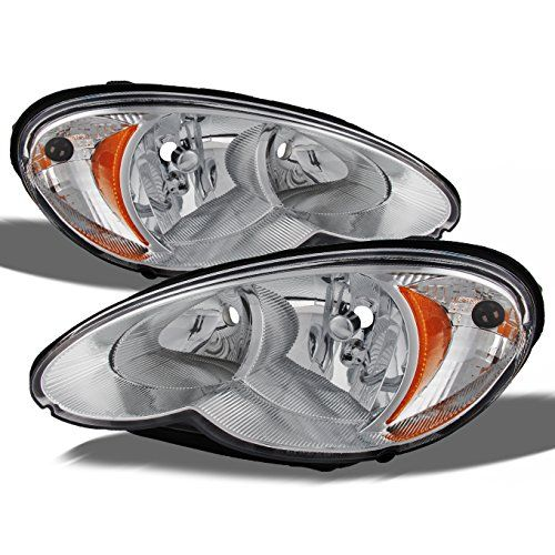 Chrysler PT Cruiser OE Replacement Chrome Bezel Headlights Driver/Passenger Head Lamps Pair New  Fits 06-10 Chrysler PT Cruiser All Models  100% Brand New, Comes in a Pair, Which Means Included Left Side (Driver Side) & Right Side (Passenger Side)  Direct Bolt On Replacement For Your Original Headlights, No Wiring or Any Other Modification Needed  90 Days Limited Warranty from the date of the shipment shows delivered, No exception  Unless Otherwise Noted, Our Lights Do Not Include Bulb...