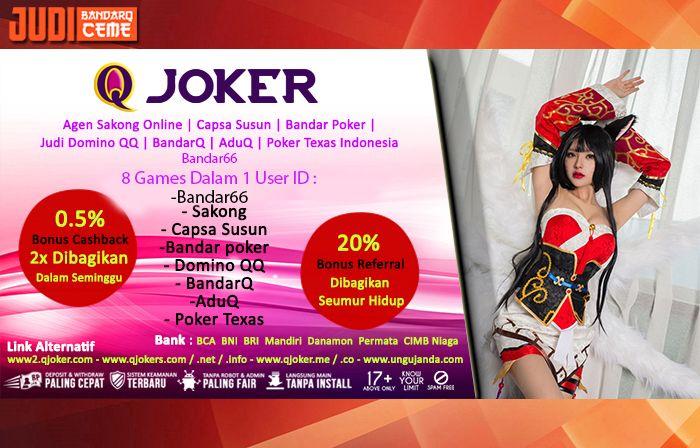 Judi BandarQ Ceme – Hai Judi Online lovers, kali ini kami akan membahas 5 Cara Menang Bermain Domino Online QJoker. Jika kalian selalu mengalami kekalahan terus menerus, kami akan memberikan cara bagaimana kalian bisa menang dengan mudah. Langsung saja simak di bawah ini.  http://judibandarqceme.com/5-cara-menang-bermain-domino-online/  http://www.sakong2018.com/2018/04/panduan-bermain-domino-online-qjoker.html