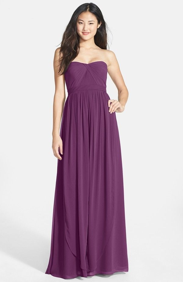9ee9333743988 Details about Jenny Yoo 'Aidan' Convertible Strapless Chiffon Gown Plus  size 24 - Pecan   Dress Jenny Yoo   Pinterest   Chiffon gown, Violets and  Formal