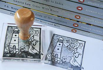 Personalised Lighthouse 'Book Belongs' Stamp