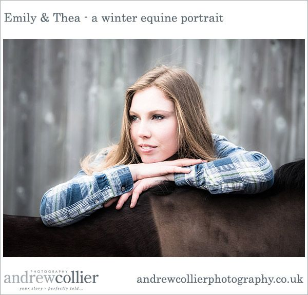 A winter horse portrait session in Holmes Chapel with Emily and her horse Thea