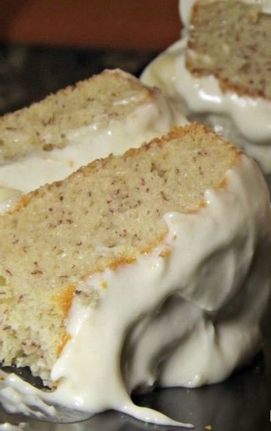 Love banana anything! - Banana Cake with Fresh Banana Frosting  A classic banana layer cake from the 1940′s made in that simple old-fashioned style like Grandma used to bake.
