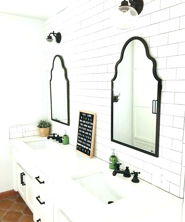 Metal Framed Mirrors Bathroom Thin Black Framed Mirror Black Framed Mirror Bathroom House Decor Bathroom Mirror With Shelf Trendy Bathroom Tiles Black Bathroom
