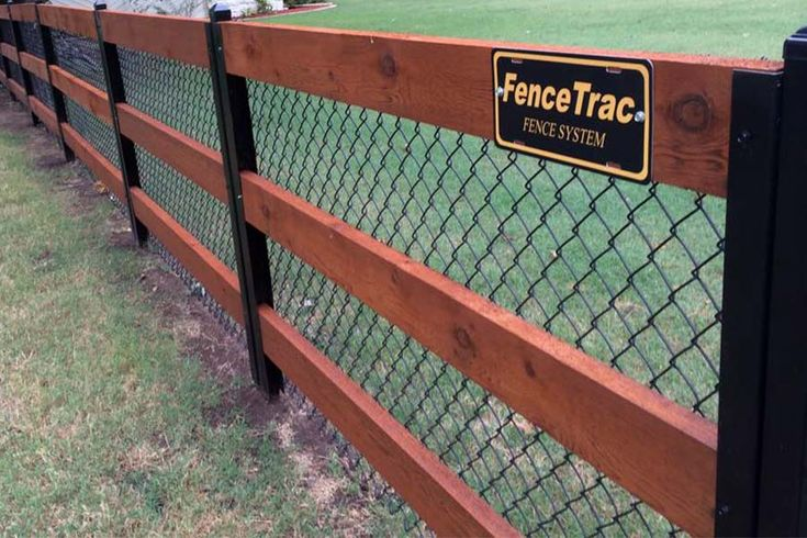 Build a wood fence with metal posts metal fence posts