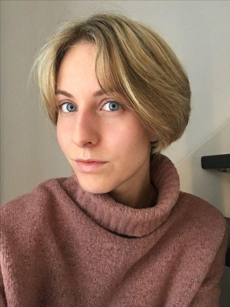 Bubikopf, Short hair, girl, blonde, highlights, boy cut