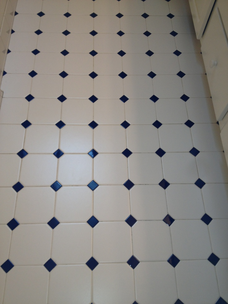 White And Cobalt Blue Tile Bathrooms Pinterest