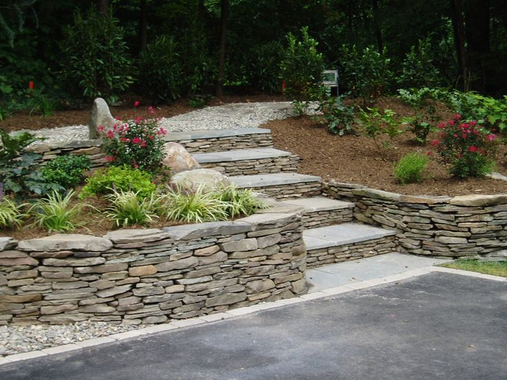 Veneer Stone. See More. Retaining Wall Ideas | ... , Arlington, Retaining  Walls, Hardscapes, Garden