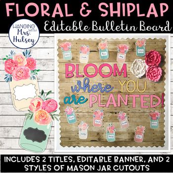 This welcome bulletin board set was made to match a floral, rustic, or shiplap themed classroom style. I think it would also look great with farmhouse chic classroom decor! **PLEASE NOTE** You will need PowerPoint to download and edit this product.