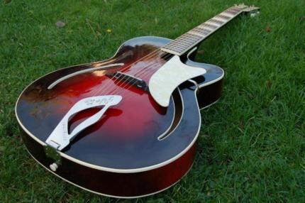 gitarre jazzgitarre original hopf archtop in essen essen katernberg musikinstrumente und. Black Bedroom Furniture Sets. Home Design Ideas