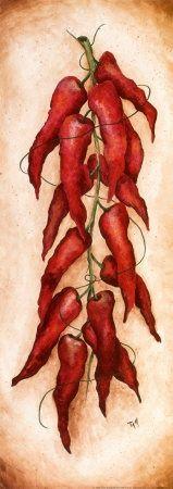картинки для декупажа с красным перцем мягкая
