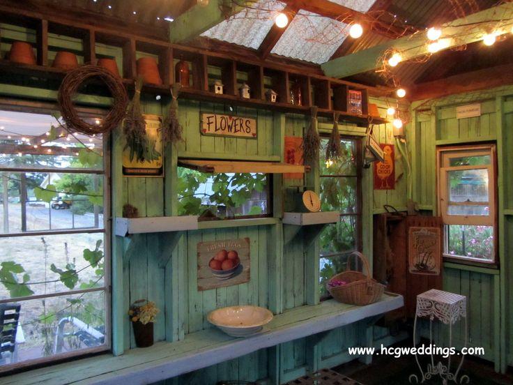 Inside the potting shed --                                                                                                                                                      More