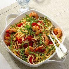 Spaghetti met scampi's en rucola Recept | Weight Watchers België