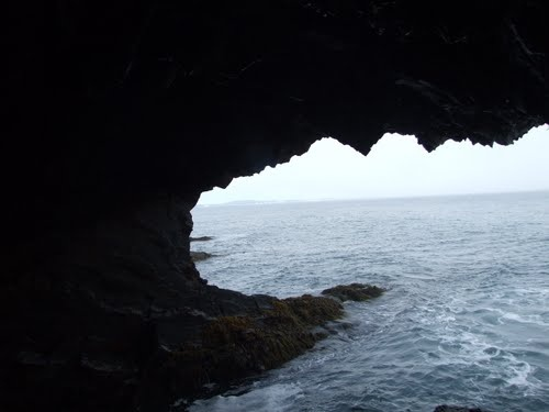 Sea cave at Ovens Park