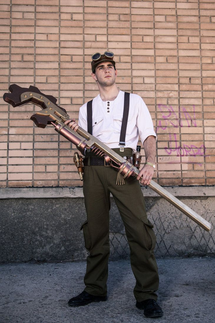 Steampunk Mechanic 1 by ~Kaliban-F on deviantART~ big wrench, maybe use PVC and foam?