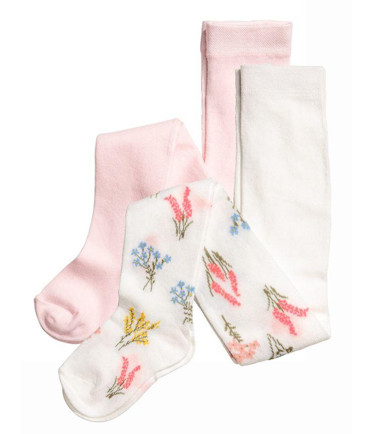 2-pack strømpebukser   Lys rosa   Barn   H&M NO