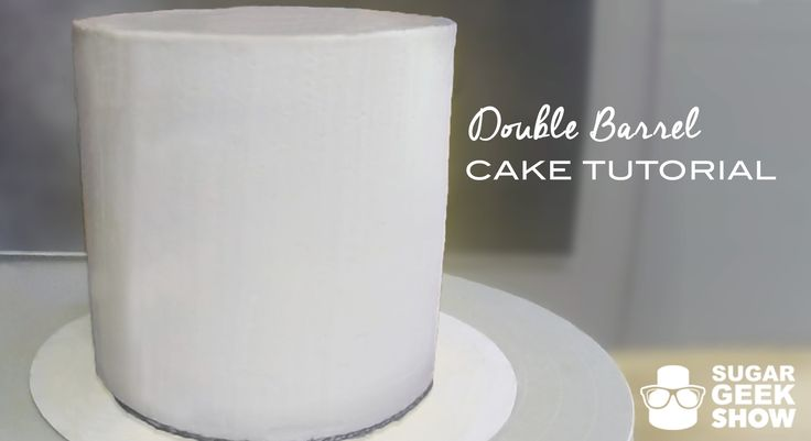 Double Barrel Cake Tutorial. This was is a great tutorial on how to stack your cakes and get it perfectly straight.