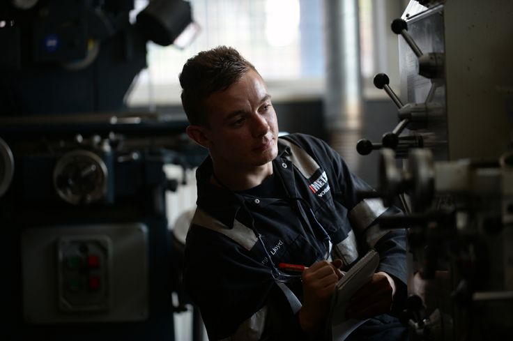 Jamie Lloyd, apprentice at Metsec - UK-based cold roll-forming company, making metal products for construction and manufacturing industries.
