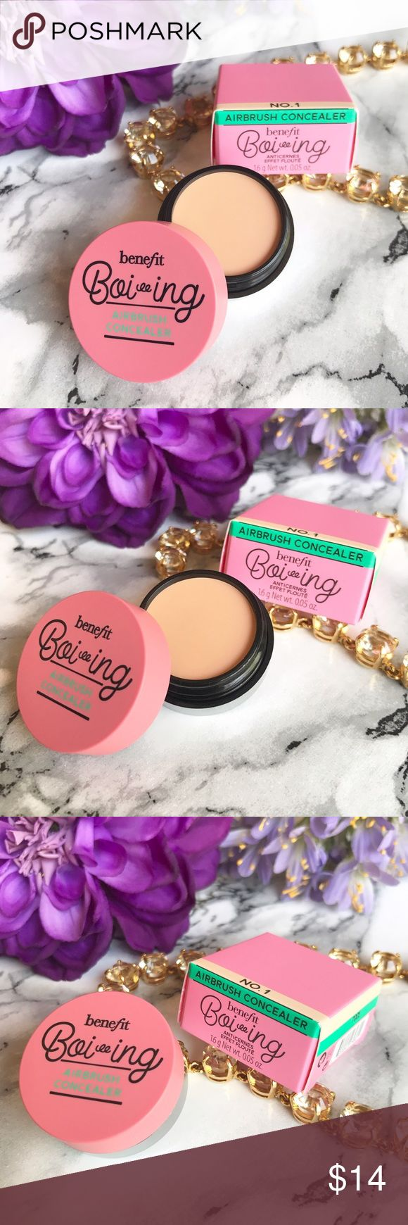 🆕 NIB 🎉 Benefit Boi-ing Airbrush Concealer NO 1 🆕 NIB 🌷 NEW ARRIVAL 🎉 Benefit Boi-ing Airbrush Concealer in Shade: No 1 ( Light ) 🍃 Travel Size 16g 🍃 This is the new Benefit Concealer that is getting numerous raves!!! Get it and try it NOW!!! ☀️ I also carry TOO Faced * Urban Decay * Bobbi Brown * Tarte * Marc Jacobs * BECCA and so much more.. SOLD OUT on Shade 2 Benefit Makeup Concealer