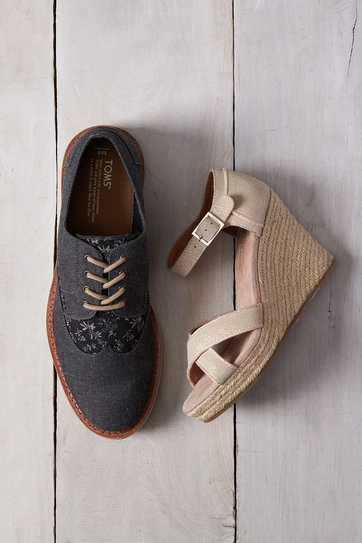 Make giving back part of your wedding day in TOMS Shoes Wedges and Brogues.