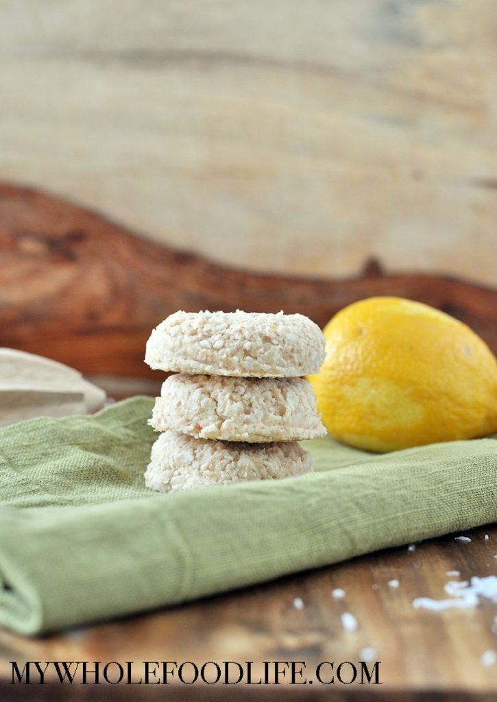 5 Ingredient Lemon Coconut Cookies. Vegan, gluten free, grain free, oil free, and nut free. Perfect for summer!