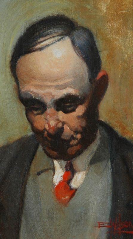 The Red Cravat: The Artist's Father: Eric Wilson.