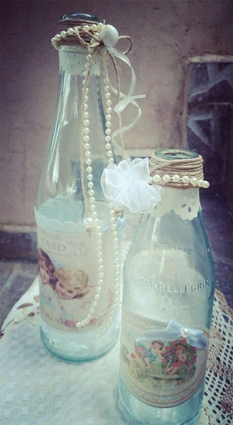 Beach shabby chic bottle