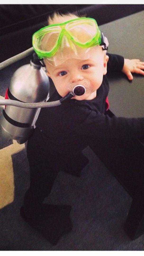 easy DIY baby scuba costume, Best Halloween costumes for kids, DIY kids…