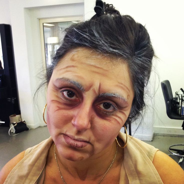 ageing with paint - makeup