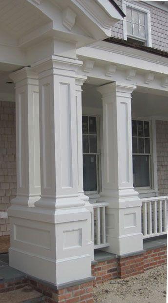 Colonial House Exterior Columns