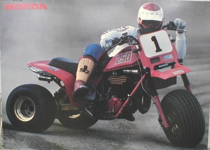1982 Honda ATC 250R.  In 1983 this got a make-over these were still fast and great for flat track.  Photo Courtesy of Vintage Factory ATC Racer
