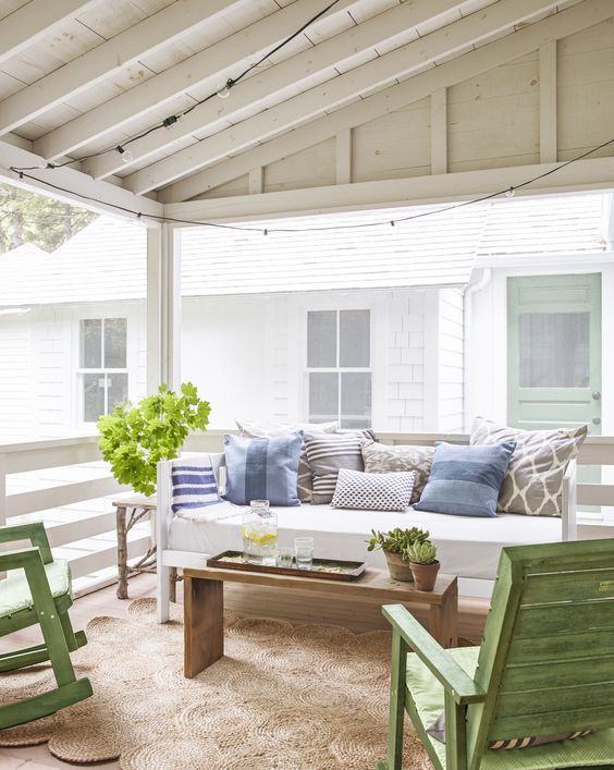 Covered Porch - Tiny Cottage In Maine Tour
