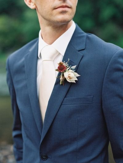 Navy suit: http://www.stylemepretty.com/2015/01/22/rustic-outdoor-geogia-wedding/   Photography: Laura Gordon - http://www.lauragordonphotography.com/