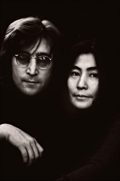 John Lennon and Yoko Ono-Lennon (NYC October 1 1972)