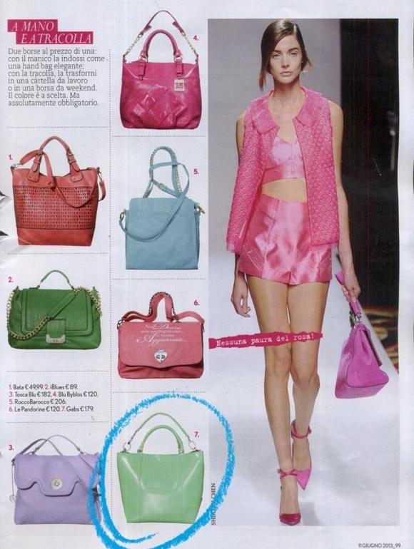 Gabsin Kenzia -laukku italialaisen Tu Style -lehden kesäkuun numerossa