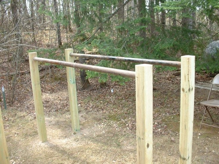 Homemade balance bars...could be fun for a kid play area